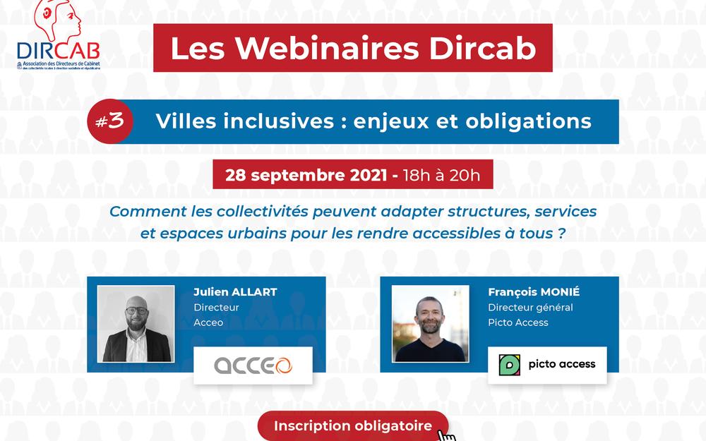 """Webinaire Dircab #3 """"Villes inclusives : enjeux et obligations"""""""